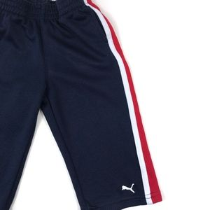 Puma Bottoms - [Puma] Navy, Red, and White Colorblock Sweatpants